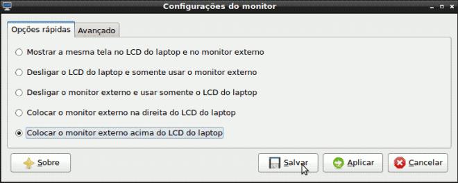 LXDE - configuração básica do monitor