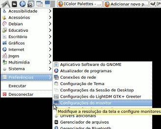 lxde monitor video conf