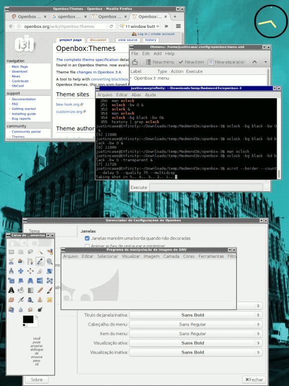 openbox com tema Windows 3.11