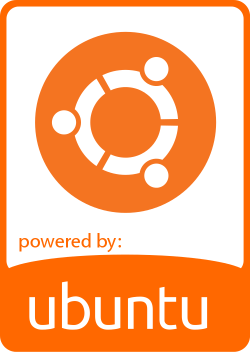 ubuntu flat orange badge