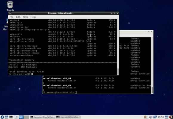 Fedora 24 screenshot