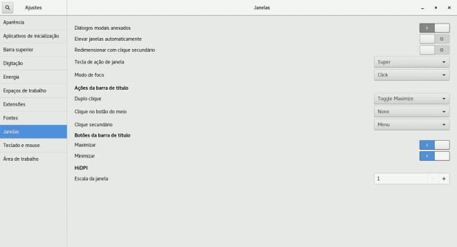 como ativar botões minimizar e maximizar no GNOME