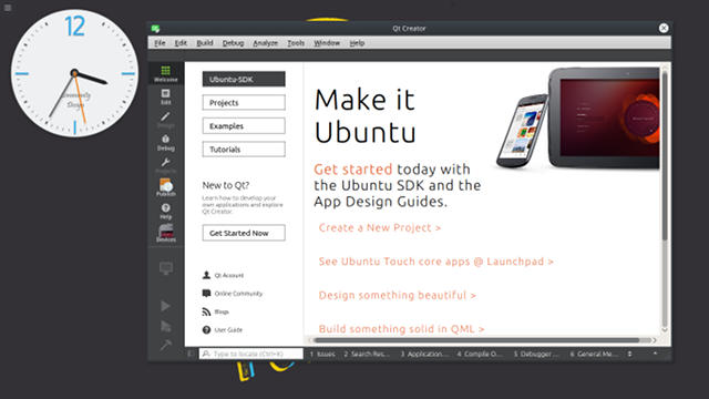 screenshot ubuntu sdk ide