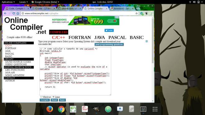 onecompiler web online compiler