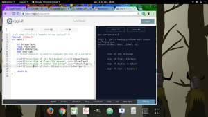 captura de tela compilador online replit