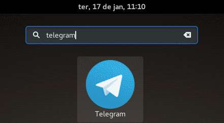 telegram icon on gnome dash