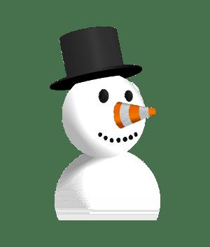 vlc snowman