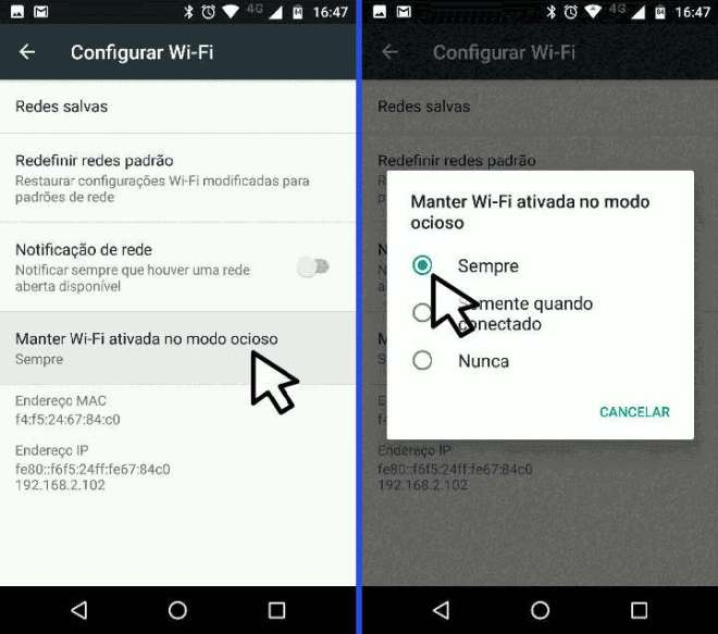 android wifi menu