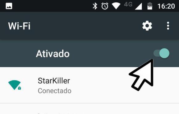 wi-fi conectado android