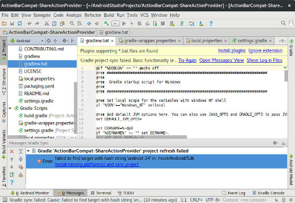 android studio ide code sample