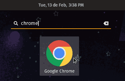 executar o chrome do dash