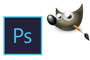photoshop and gimp logos