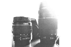 Qual a melhor lente do kit para tirar retratos de pessoas? A 18-55mm ou a 75-300mm?