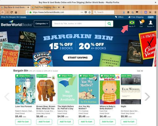 Imagem do site BetterWorld Books