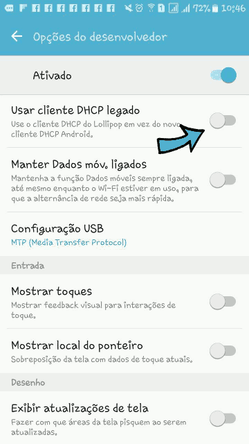 android dhcp legado
