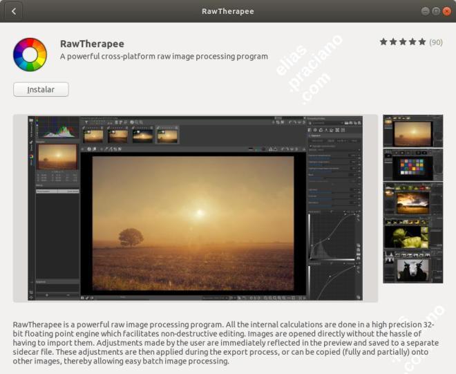 ubuntu instalar rawtherapee