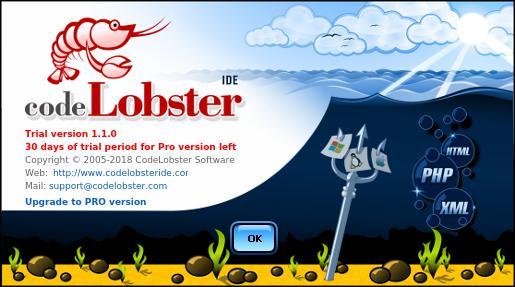 Logo do CodeLobster e descrição do produto