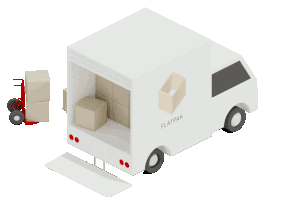 caminhão de entregas flatpak