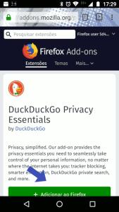 Extensão oficial DuckDuckGo para Firefox
