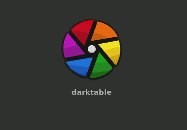 darktable 3 logo against dark gray background