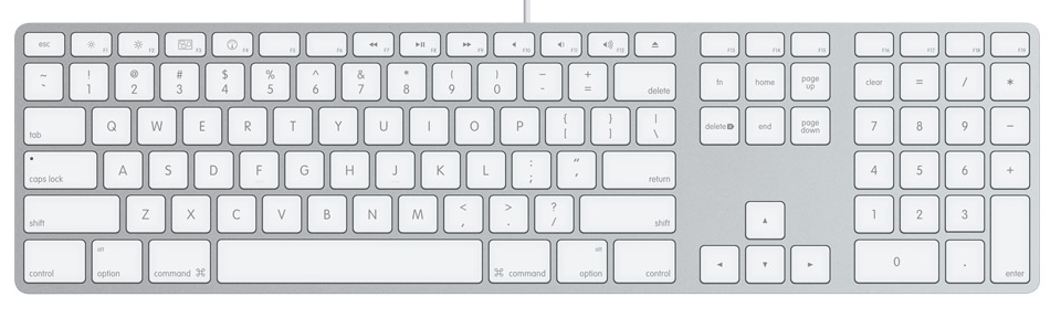 Apple's wonderful and sexy keyboard.