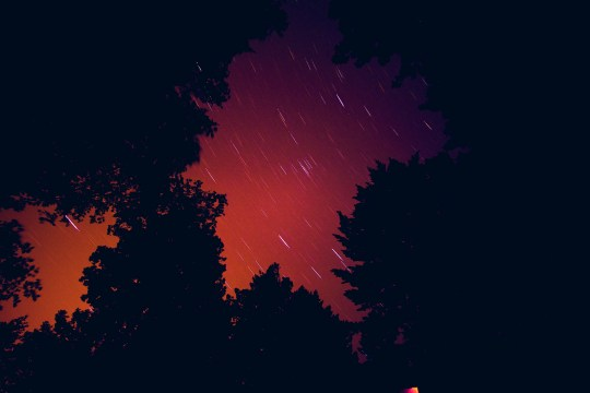 The stars shine, although dull, a move swiftly.