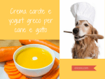 Crema carote e yogurt greco per cane e gatto