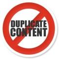 divieto di duplicare i contenuti