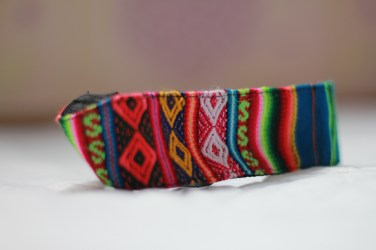Colorful hairband I got from Peru that makes me happy whenever I wear it.