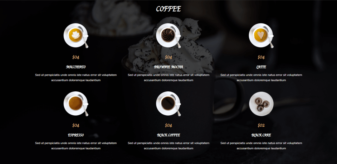 Divi Restro Menu Layout 2