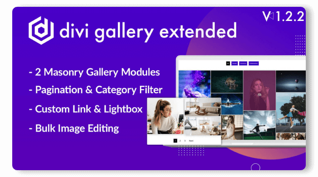 Divi Extended masonry gallery plugin