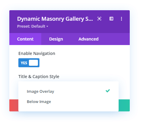 Title and Caption location option in the lightbox