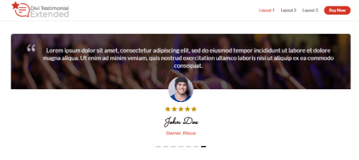 Divi Testimonial Extended layout 1