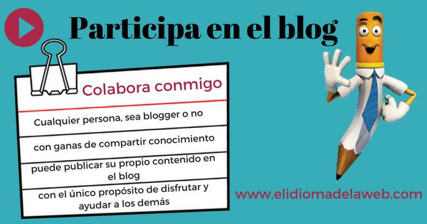 Colabora en el blog escribiendo un post