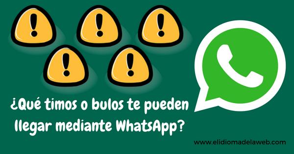 Qué no te timen por WhatsApp