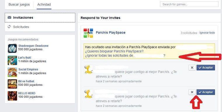 cómo bloquear los juegos en Facebook