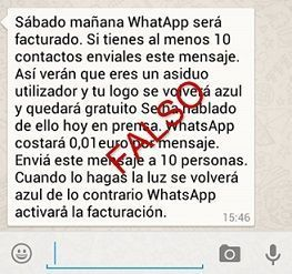 bulos y estafas de whatsapp