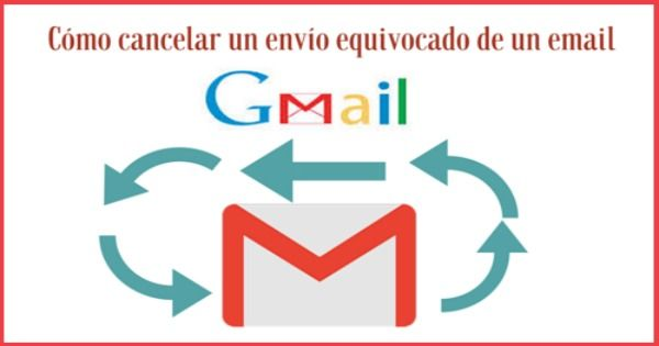 Cómo cancelar un envío erróneo de un email