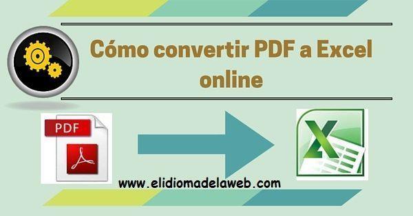 Convertir PDF a Excel online