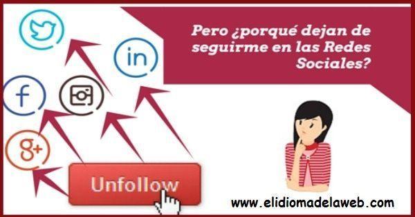 motivos de la pérdida de seguidores en redes