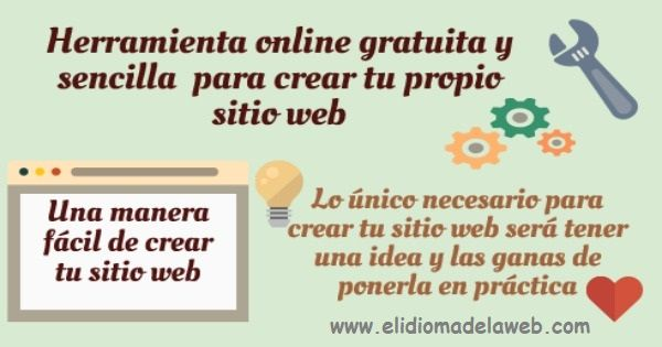 Herramienta online para crear tu propio sitio web