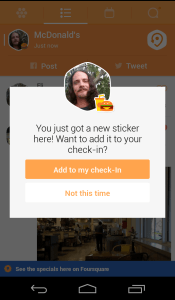 Winning New Swarm Stickers Replaces FourSquare Badges