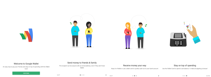 GoogleWallet WelcomeScreens