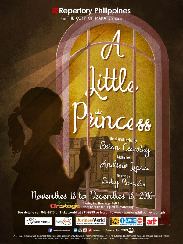 To round the year, Repertory is presenting the musical A Little Princess, which tells the story of Princess Sarah, who suffers at the hands of Miss Minchin at a boarding school in London. Things turn for the worse when her father dies and she becomes a pauper.