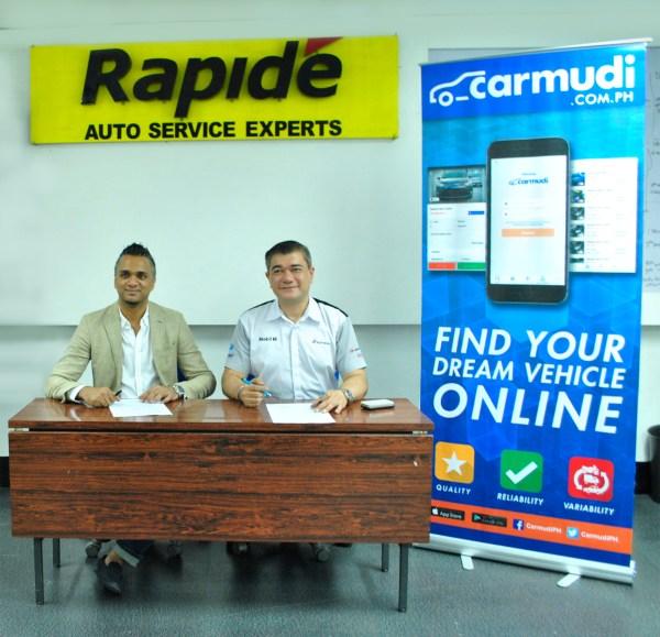 CARMUDI PH inks partnership with RAPIDE