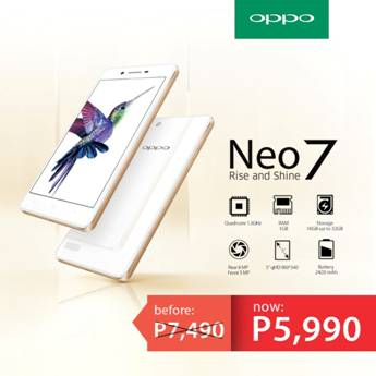 Price drop alert: Get P1,900 off on OPPO's Neo7 from P7,490 to P5,990