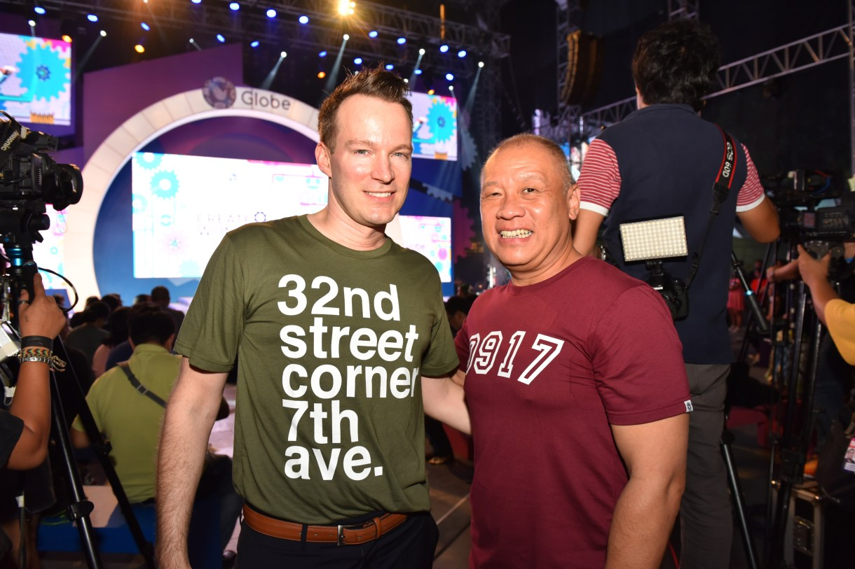 Musical.ly President Alex Hofmann and Globe President and CEO Ernest Cu
