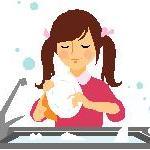 Girl washer