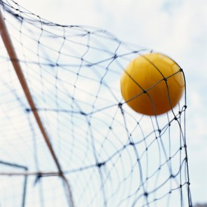 Soccer Ball Hitting Net