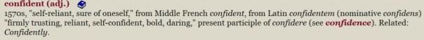 Confident etymology